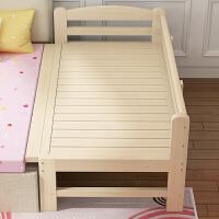 实木拼接床加宽加长床边小孩床宝宝婴儿床单双人松木床可定做 200*100*40 可定制高度 其他 框架结构