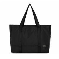 休闲单肩手提电脑包 男士商务公文包 女性大容量购物袋