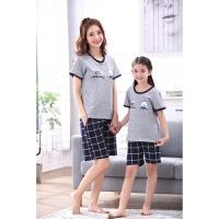 子睡衣短袖母女装中大童家居服夏季韩版公主小女孩卡通套装