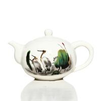 尚帝茶具 玉瓷 茶壶 茶壶套装 功夫茶具配件 零配 陶瓷茶壶 仙鹤  DPCHTTLX3