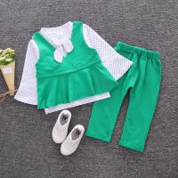 童装女童秋装套装宝宝婴幼儿长袖外出服三件套01-2-3-4岁