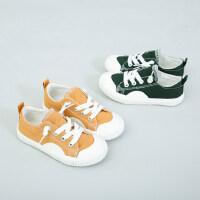儿童休闲鞋女童帆布鞋 潮男童鞋秋款韩版百搭板鞋宝宝布鞋