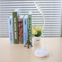 【满减优惠】LED台灯护眼小学生书桌USB充电床头宿舍阅读学习卧室儿童台风两用