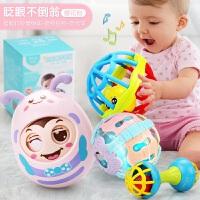 不倒翁玩具婴儿3-6-9-12-24个月宝宝益智小孩0-1岁大号不到翁5-7 +健身球2件套 +声光球
