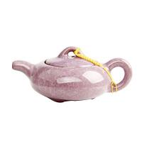 尚帝 台湾冰裂壶 功夫茶具配件 瓷器 冰裂茶壶 陶瓷茶壶 茶具茶壶 淡紫色DPCHL801