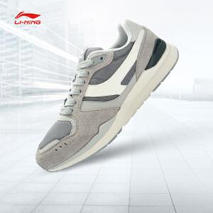 李宁休闲鞋男鞋耐磨防滑皮面时尚经典低帮运动鞋ALKJ001