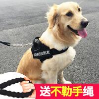 背心式遛狗狗牵引绳金毛泰迪小中型大型犬狗链子胸背带宠物用品 t4p