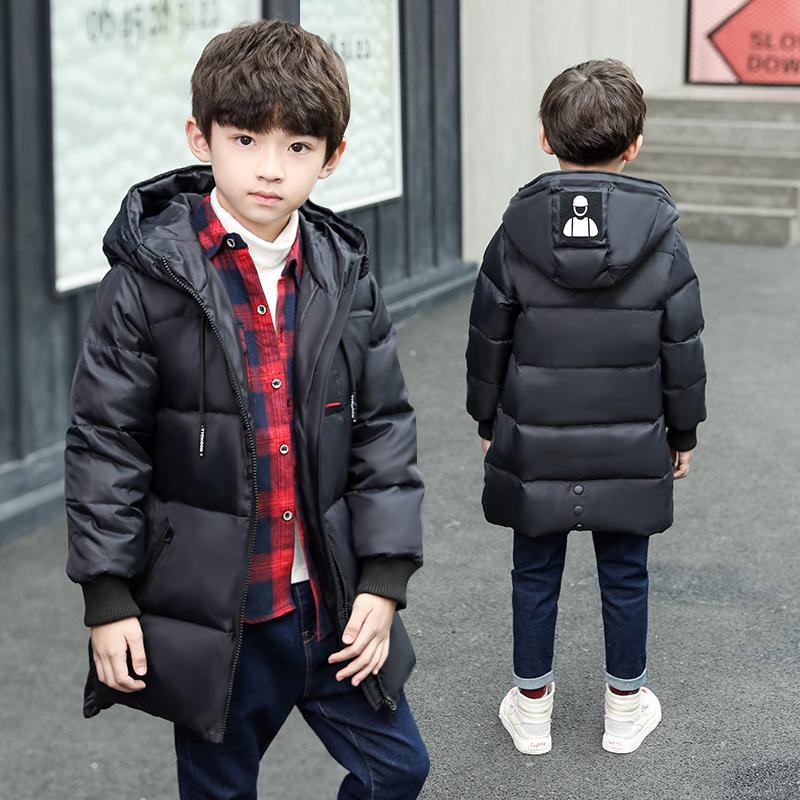 童装男童棉衣中长款儿童加厚中大童棉袄韩版外套冬装