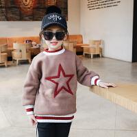 女童加绒加厚卫衣 双12新款冬儿童外套童装韩版保暖上衣绒衫百搭