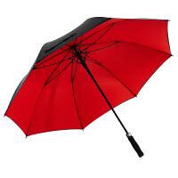 COHS高尔夫 商务加大 自动 长柄直杆防紫外线黑胶太阳伞晴雨两用直柄双层系列CS608 (大红色)