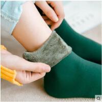秋冬款加绒地板袜子女冬季加厚毛圈袜韩国孕妇月子袜韩版中筒袜