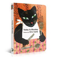 Today Is Monday 今天是星期一 Eric Carle 艾瑞・卡尔 经典作品 廖彩杏推荐原版亲子读物 木板