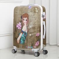 行李箱万向轮密码箱 学生拉杆箱动漫涂鸦登机箱20/旅行箱