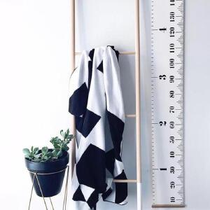 身高贴 家居儿童身高尺北欧黑白简约创意装饰墙贴壁挂画摄影道具
