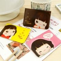 10个韩国女士卡片包可爱卡通卡包12卡位卡夹PU仿皮妞子卡包
