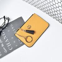 小零钱包女短款新款韩版迷你皮卡夹拉链钥匙包复古欧美硬币袋