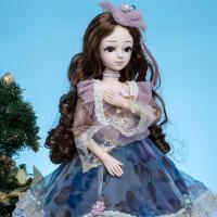 安娜公主SD娃多关节换装洋娃娃60厘米bjd女孩玩具仿真公主套礼物
