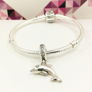 PANDORA潘多拉 925银 快乐小海豚吊坠791541CZ