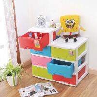 三层塑料收纳柜置物架塑料抽屉置物架卧室收纳抽屉式柜子1076