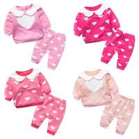 婴儿童套装宝宝两件0岁6月春装套新生儿衣服冬季休闲外出服
