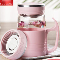 玻璃水杯便携情侣杯子一对简约清新创意女学生