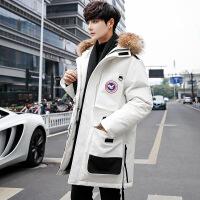 风羽绒服男女中长款2018新款加厚韩版潮学生青年滑雪鹅冬季新品