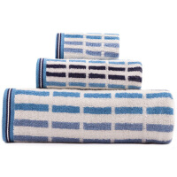 [当当自营] 三利 纯棉条纹 方巾毛巾浴巾 三件套 礼盒装 三色可选
