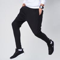 【低价直降,2件折上再打9折】361度运动男裤2018秋季新款黑色训练长裤男士针织小脚休闲裤