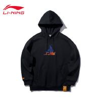 李宁卫衣男士新款CBA-Fanpack篮球系列上海队宽松套头连帽上衣AWDQ159