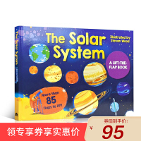 英文原版进口童书 The Solar System 太阳系 A Lift-the-flap-book 大开本纸板揭页书 3-6岁低幼儿童英语绘本图画书 西文英文亲子绘本馆专营店
