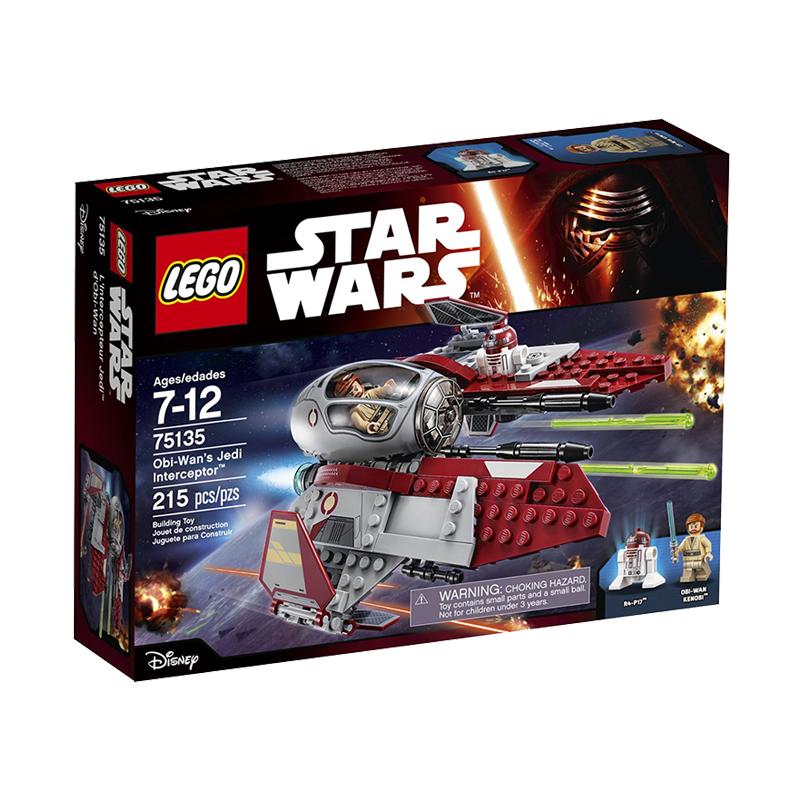 美国直邮 LEGO乐高 星球大战欧比旺的绝地拦截75135  215PCS 海外购 乐高星球大战欧比旺的绝地拦截