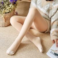 白领公社 打底裤 女士加绒肉色光腿连裤袜冬季新款韩版女式时尚休闲舒适百搭靴裤