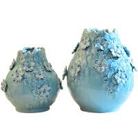 北欧创意简约仿真花干花插花手工陶瓷花瓶客厅电视柜餐桌装饰摆件
