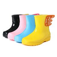 儿童天使雨鞋水鞋宝宝女童男童雨靴