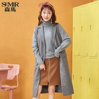 森马马甲女冬季新款女士毛呢长款显瘦外套韩版百搭学生潮