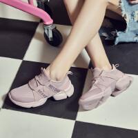 【过年不打烊】【满99减50】361女鞋运动鞋2019秋季新款网面轻便透气厚底时361°