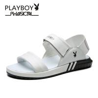 【夏季新款】花花公子新款夏季男凉鞋魔术贴男士潮流防滑沙滩鞋德-CX39657