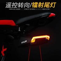 激光尾灯LED警示灯R1 山地车尾灯遥控转向灯 新款智能自行车尾灯
