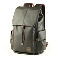 韩版男士双肩背包pu皮潮流背包大容量旅游背包旅行包商务电脑包zl