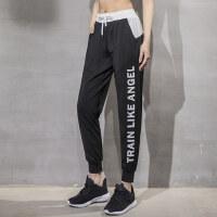 大码裤子女胖mm200斤跑步速干健身裤胖妹妹运动裤宽松瑜伽长裤