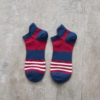 男士打球运动棉袜鸭嘴袜条纹短袜子低帮棉篮球袜 均码