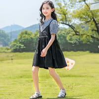 女童连衣裙背带裙夏装中大儿童公主裙子时髦女孩