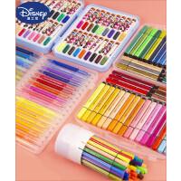 迪士尼软头水彩笔套装彩色笔无毒可水洗印章画笔儿童幼儿园小学生用宝宝颜色笔双头专业美术绘画24色36色涂鸦