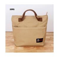 韩版手提女包新款夏天小包包百塔帆布饭盒袋手拎妈妈包便当包