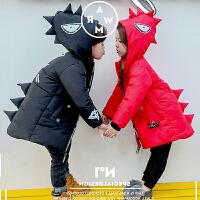 S儿童装男童女童韩版棉衣外套中长款棉袄2018冬装新款G020 O