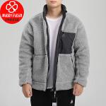 幸运叶子 阿迪达斯外套男装秋冬季新款运动服两面穿加绒保暖棉衣GF0051
