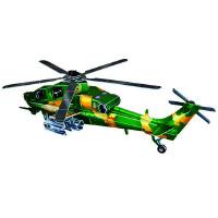 中国尖端兵器炫酷立体益智拼插 直10武装直升机