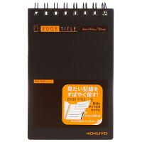 国誉(KOKUYO)-J363B A7/50页 进口双螺旋记事本虚线可撕便签本 黑色当当自营