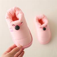 冬天棉拖鞋女包跟居家用室内厚底防滑情侣羽绒布保暖月子棉鞋