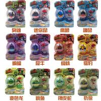 功夫鸡的金蛋玩具 正版的儿童玩具陀螺套装金蛋公仔指尖陀螺全套12款滑行车 CX 功夫鸡陀螺套装12款 套装集
